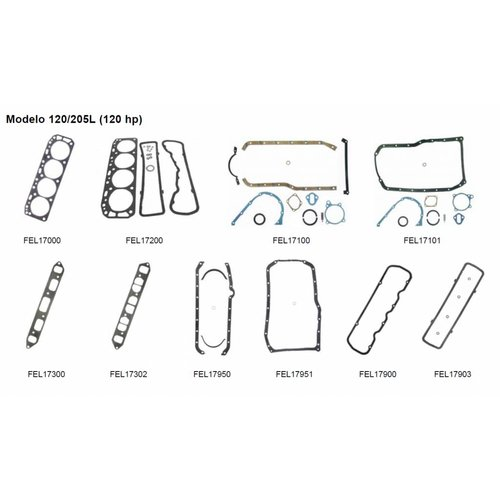 Mercruiser 4 Cylinder Engine Gaskets 120/205L (120 HP)