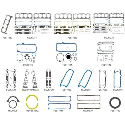 Volvo Penta Gasket Kit AQ 260/270/271/275/290/311 5,7L GL 215 HP 570/571/572DP 245/273/225 HP