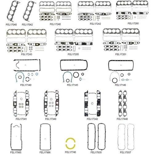 Volvo Penta Gasket Kit 7.4 Liter 300/330/385 HP Models GI/GSI/740DP