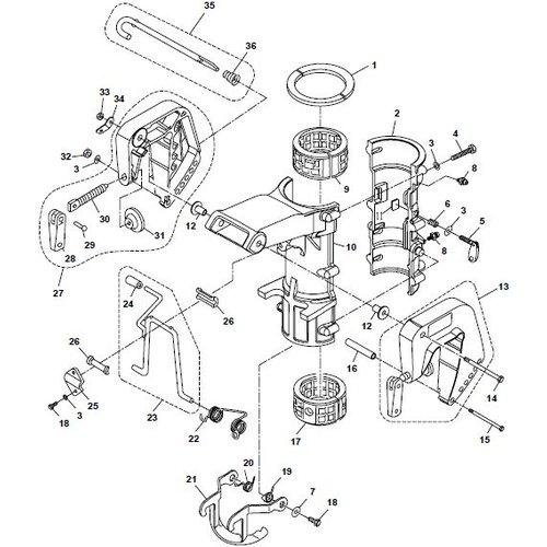 Parsun Buitenboordmotor F6A (F5A) B Bracket onderdelen