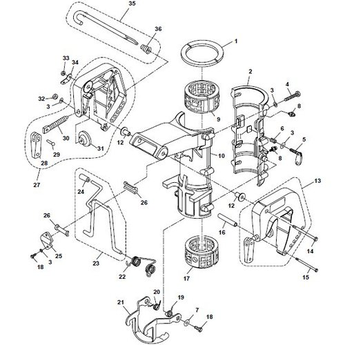 Parsun Outboard Engine F6A (F5A) B Bracket Parts