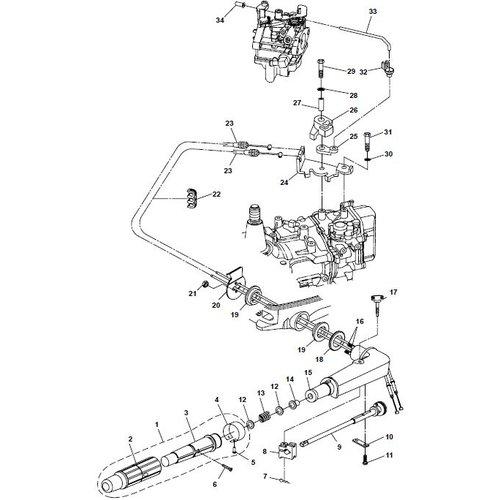 Parsun Buitenboordmotor F6A (F5A) B Steering onderdelen