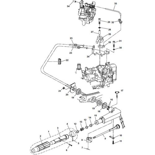Parsun Outboard Engine F6A (F5A) B Steering Parts