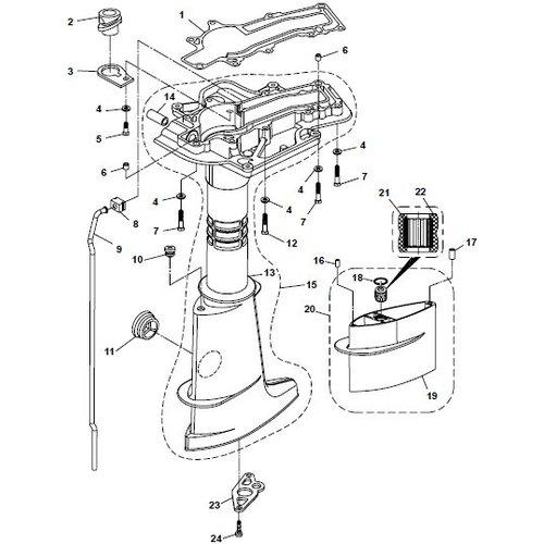 Parsun Buitenboordmotor F6A (F5A) B Upper Casing onderdelen