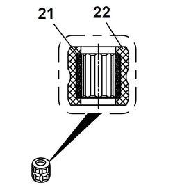 RecMar (22) Parsun Rubber Bushing F6A (F5A) B (PAF2.6-03020003L)