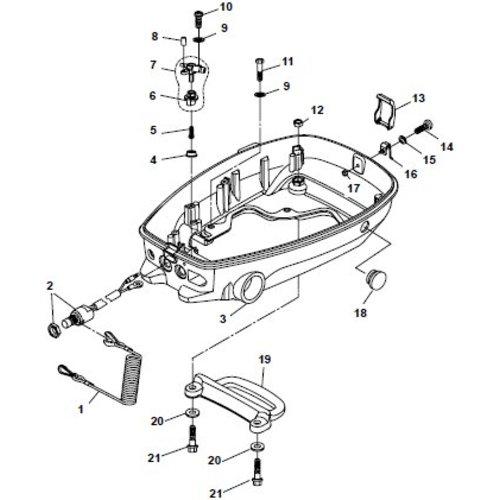 Parsun Buitenboordmotor F6A (F5A) B Bottom Cowling onderdelen