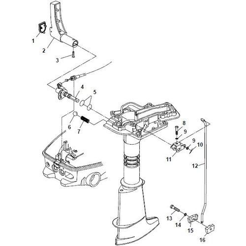 Parsun Buitenboordmotor F6A (F5A) B Control System onderdelen