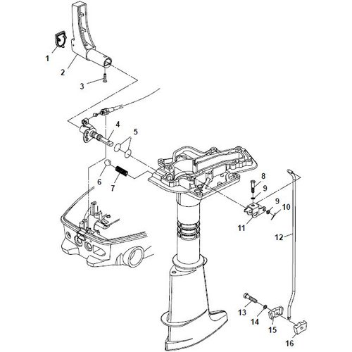 Parsun Outboard Engine F6A (F5A) B Control System Parts