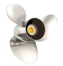 RVS propeller 3 blads Mercury/Mariner/Honda 60/70 pk Bigfoot 75 t/m 125 pk 15 tooth spline