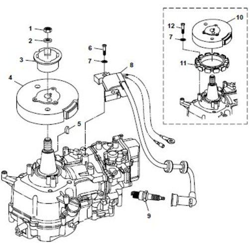 Parsun Buitenboordmotor F6A (F5A) B Electrical onderdelen