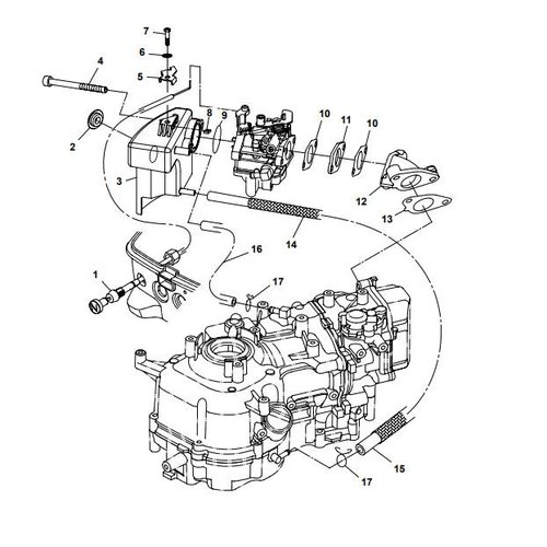 Parsun Buitenboordmotor F6A (F5A) B Intake onderdelen