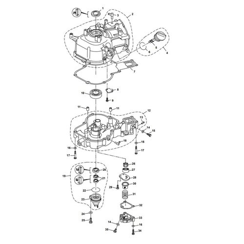Parsun Outboard Engine F6A (F5A) B Crankcase Parts