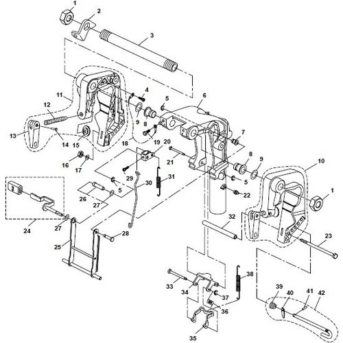 Parsun Outboard Engine F20A (F15A) BM (FW) Bracket 1 Parts