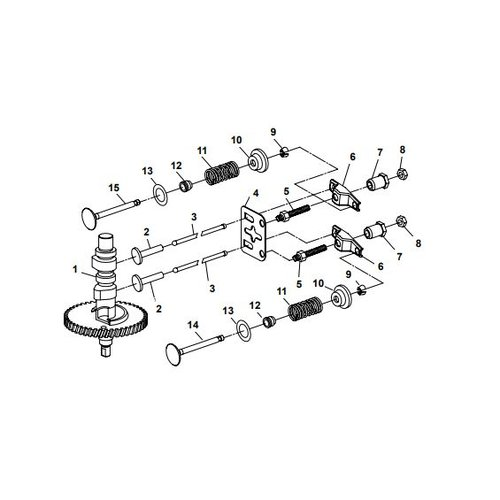 Parsun Buitenboordmotor F6A (F5A) B Camshaft onderdelen