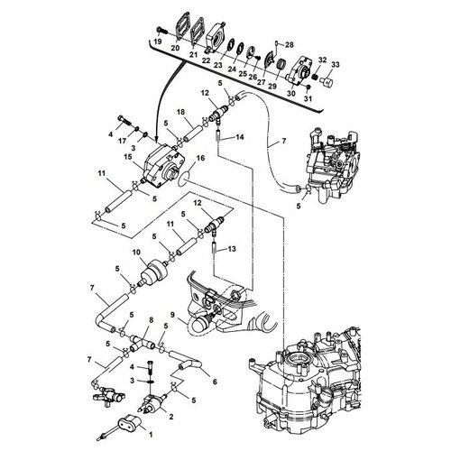 Parsun Buitenboordmotor F6A (F5A) B Fuel System onderdelen