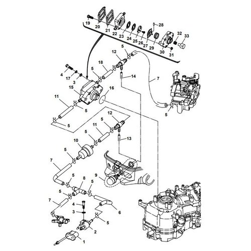 Parsun Outboard Engine F6A (F5A) B Fuel System Parts
