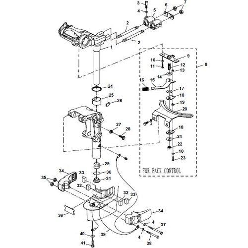 Parsun Buitenboordmotor F20A (F15A) BM (FW) Bracket 2 onderdelen