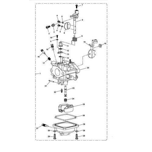 Parsun Buitenboordmotor F6A (F5A) B Carburetor Assy onderdelen