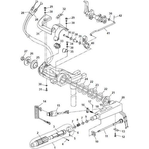 Parsun Buitenboordmotor F20A (F15A) BM (FW) Steering onderdelen