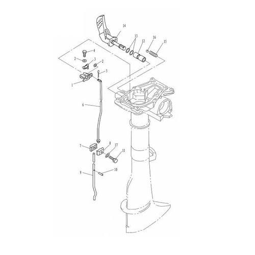 Parsun Buitenboordmotor F2.6 Control onderdelen