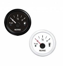 Benzine tank of water tank meter Zwart/Wit