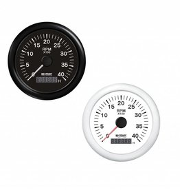 RecMar Tachometer black/white 0/4000 RPM