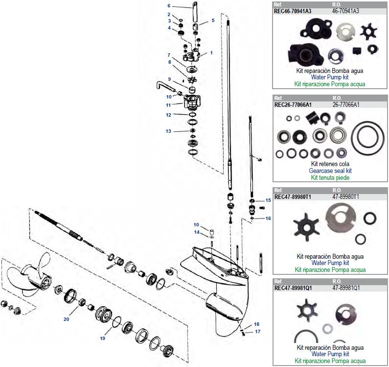 mercury 3 0 inboard motor parts