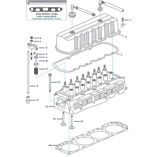 GM motor kop /cilinder head 181 CID, 3.0L & 250 CID, 4.1L
