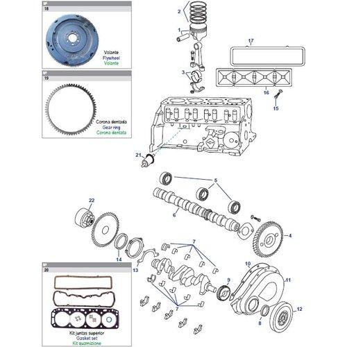 Onderdelen Motorblok GM 181 CID, 3.0L & 250 CID, 4.1L