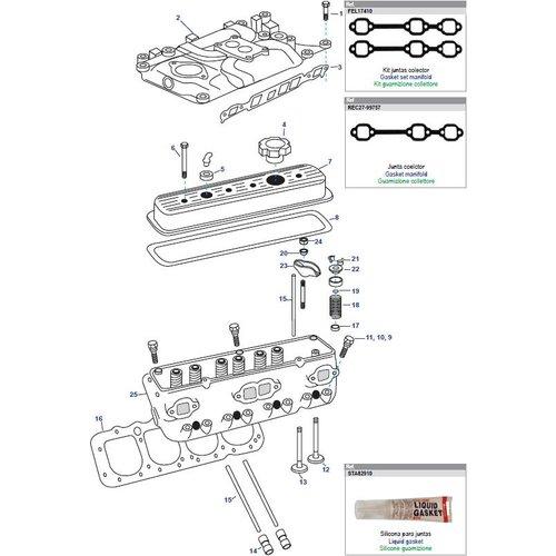 General Motors Cylinder Head V6 262 CID  4.3L Parts