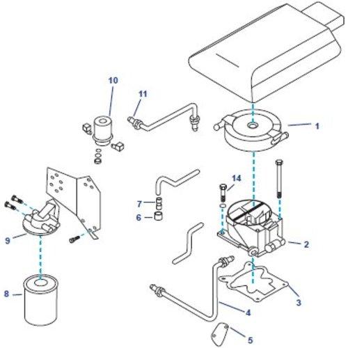 General Motors Fuel System 262 CID, V6, 4.3L Parts