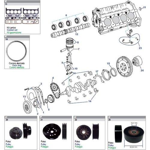 General Motors Cylinder Block Engine V8, 5.0L & 5.7L Small Block Parts