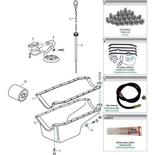 General Motors Oil Pan Block Engine V8, 5.0 & 5.7L Small Block Parts