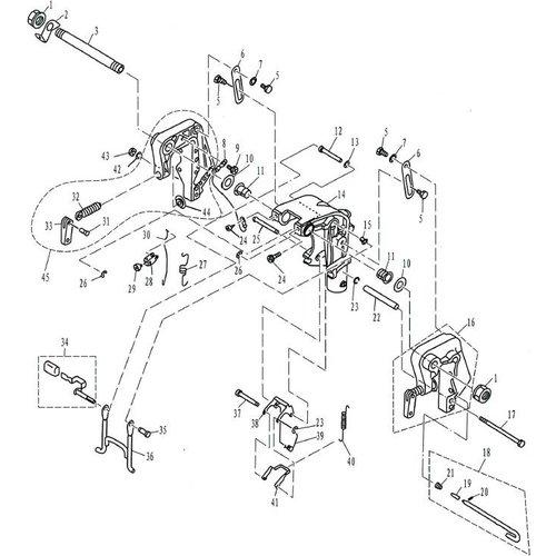 Parsun Buitenboordmotor F9.9, F13.5 & F15 Bracket 1 onderdelen
