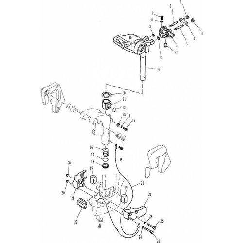 Yamaha/Parsun Buitenboordmotor F9.9, F13.5 & F15 Bracket 2 onderdelen