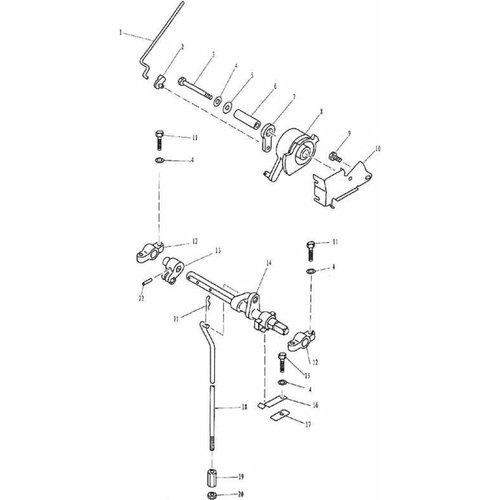 Parsun Buitenboordmotor F9.9, F13.5 & F15 Control System onderdelen