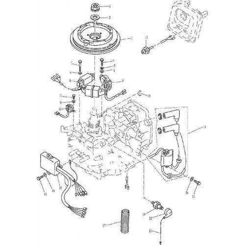 Yamaha/Parsun Buitenboordmotor F9.9, F13.5 & F15 Electrical onderdelen