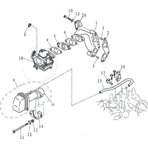 Parsun Buitenboordmotor F9.9, F13.5 & F15 Intake onderdelen