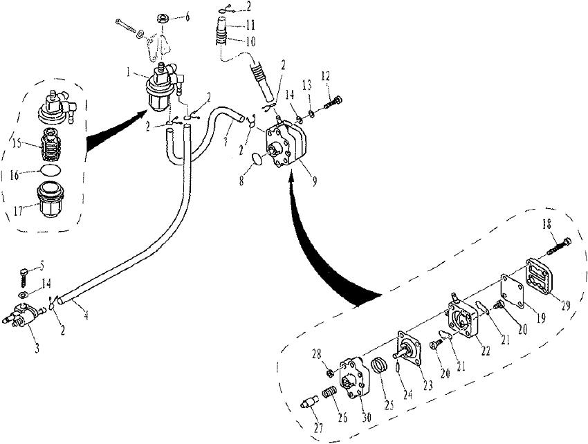 yamaha  parsun buitenboordmotor f9 9  f13 5  u0026 f15 fuel