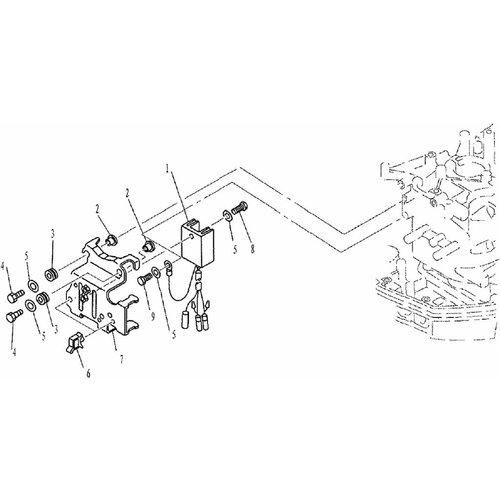 Yamaha/Parsun Buitenboordmotor F9.9, F13.5 & F15 Rectifier onderdelen