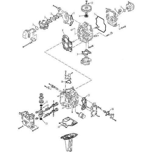 Yamaha/Parsun Buitenboordmotor F9.9, F13.5 & F15 Appendix 1 onderdelen