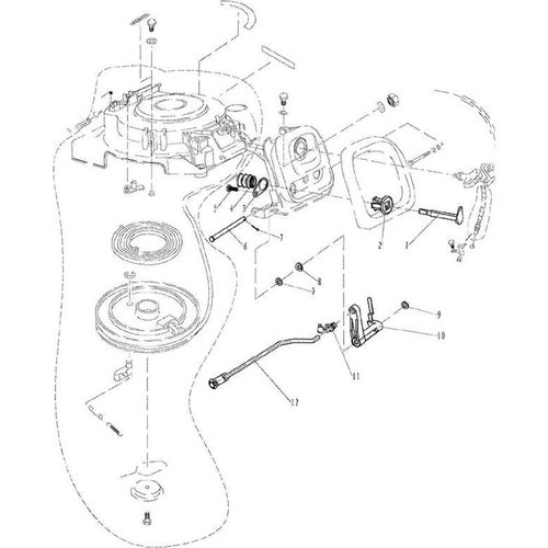 Parsun Outboard Engine F9.9, F13.5 & F15 Starter 2 Parts