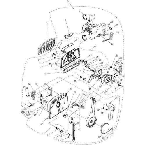 Yamaha/Parsun Buitenboordmotor F9.9, F13.5 & F15 Electric Start Control Box Assy onderdelen