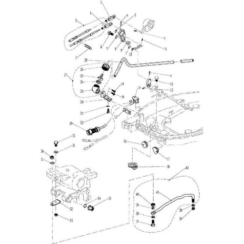 Yamaha/Parsun Buitenboordmotor F9.9, F13.5 & F15 Electric Start Bottom Cowling & Bracket onderdelen