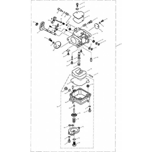 Yamaha/Parsun Buitenboordmotor F9.9, F13.5 & F15 Carburetor onderdelen