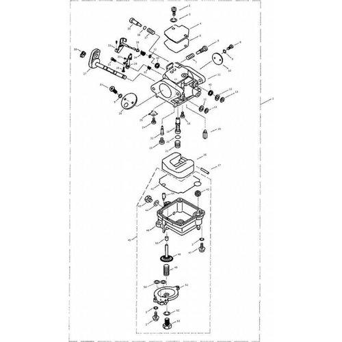 Parsun Buitenboordmotor F9.9, F13.5 & F15 Carburetor onderdelen