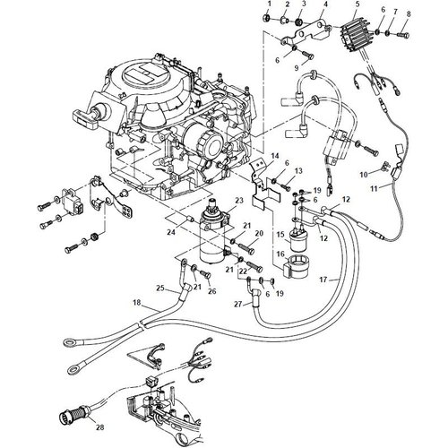 Parsun Buitenboordmotor F20A (F15A) BM (FW) Electrical 2 onderdelen