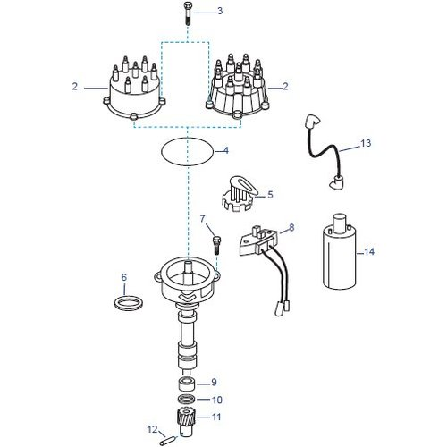 MerCruiser Distributor Assembly IV & V Onderdelen