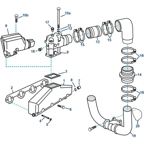 Volvo Penta Spruitstuk Inlaat Uitlaat En Turbo Voordelig Bij