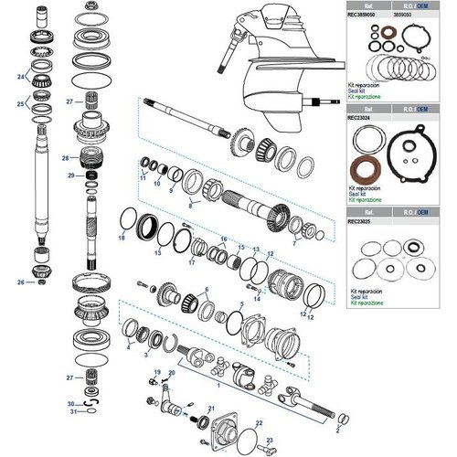 Volvo XDP Gearcase Components
